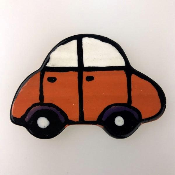 Orange Noddy Car Ceramic Mosaic Inserts Mosaic Tile www.mosaicinspiration.com