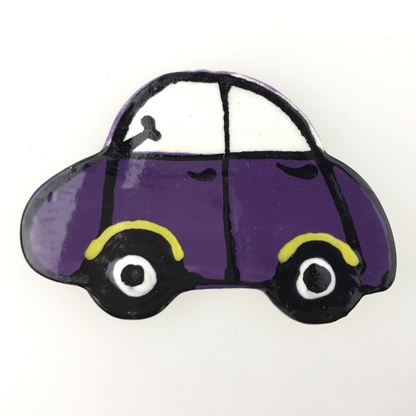 Purple Noddy Car Ceramic Mosaic Inserts Mosaic Tile www.mosaicinspiration.com