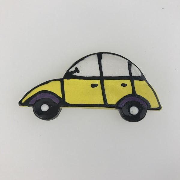 Yellow Ceramic Car Ceramic Mosaic Inserts Mosaic Tile www.mosaicinspiration.com