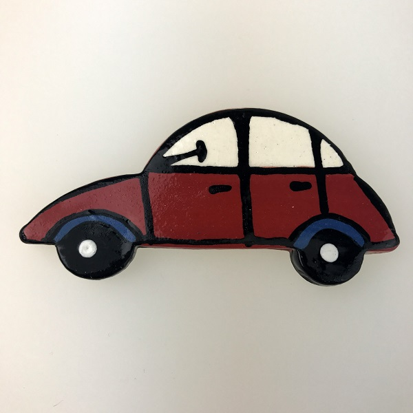 Red Ceramic Car Ceramic Mosaic Inserts Mosaic Tile www.mosaicinspiration.com