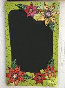 MOSAIC INSERTS Chalkboard flowers leaves Mosaic Tiles www.mosaicinspiration.com