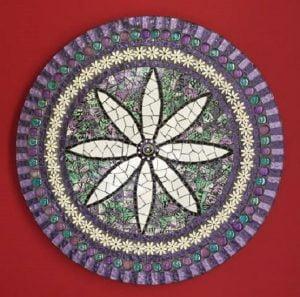 MOSAIC INSERTS Daisies Mosaic Tiles www.mosaicinspiration.com