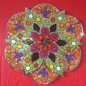 MOSAIC INSERTS Ceramic Flower Mosaic Tiles www.mosaicinspiration.com