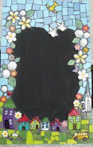 MOSAIC INSERTS House Car Church flowers Mosaic Tiles www.mosaicinspiration.com