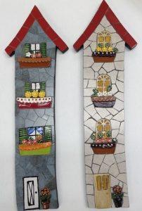 MOSAIC INSERTS Houses windows doors flowers Mosaic Tiles www.mosaicinspiration.com
