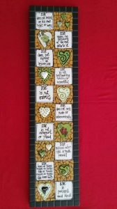 MOSAIC INSERTS Love is Patient words hearts Mosaic Tiles www.mosaicinspiration.com