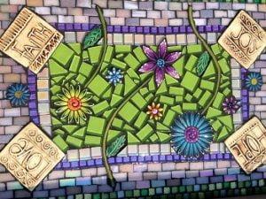 MOSAIC INSERTS Mosaic Tiles Flowers leaves stems Mosaic Tiles www.mosaicinspiration.com