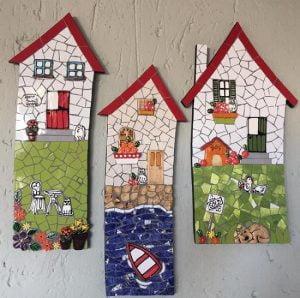 MOSAIC INSERTS Windows Dog Potplants Flowers Door Cat Chickens Boat Mosaic Tiles www.mosaicinspiration.com