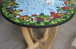 MOSAIC INSERTS house birds car flower Mosaic Tiles www.mosaicinspiration.com