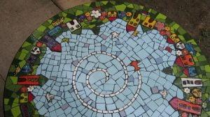 MOSAIC INSERTS house car birds flowers Mosaic Tiles www.mosaicinspiration.com