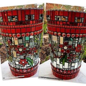 Ceramic Ladybird Ceramic Mosaic Tile www.mosaicinspiration.com