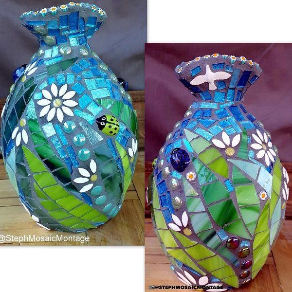Ceramic Ladybird Ceramic Bird Ceramic Mosaic Tile www.mosaicinspiration.com