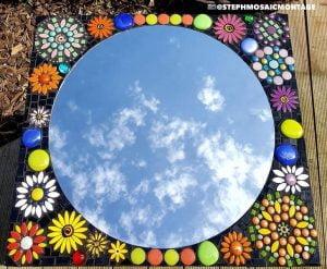Ceramic Daisy Ceramic Flowers Ceramic Mosaic Tile www.mosaicinspiration.com