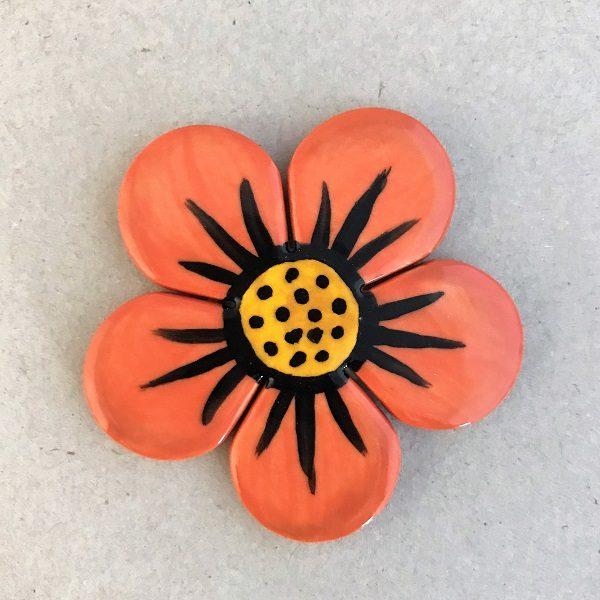 Ceramic Flower Ceramic Mosaic Tile www.mosaicinspiration.com