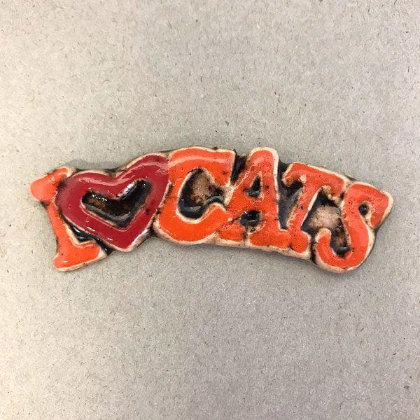 I Love Cats Ceramic Mosaic Tile www.mosaicinspiration.com