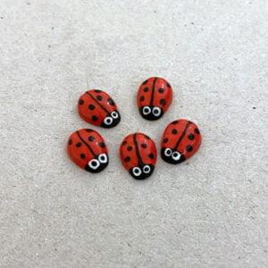 MOSAIC INSPIRATION 10x8mm Red Ceramic Ladybirds Ceramic Ladybugs Ceramic Mosaic Insert www.mosaicinspiration.com