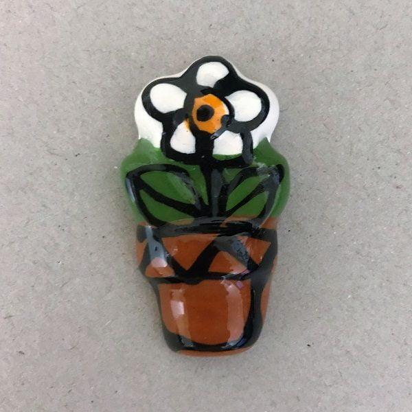 MOSAIC INSPIRATION Ceramic flower in Pot Ceramic Mosaic Tiles Mosaic Inserts www.mosaicinspiration.com