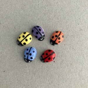 Multicoloured Ceramic Ladybirds Ceramic Ladybugs Ceramic Mosaic Tile www.mosaicinspiration.com