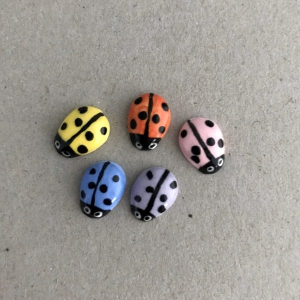 Multicoloured Ceramic Ladybirds Ceramic Ladybugs Ceramic Mosaic Tile www.mosaicinspiration.com