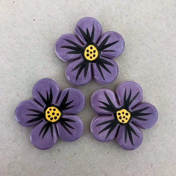 MOSAIC INSPIRATION 33mm Ceramic Flowers Ceramic Embellishments Mosaic Inserts www.mosaicinspiration.com