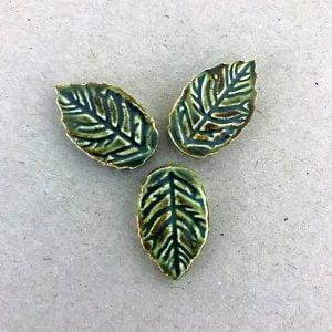 Ceramic Leaves Ceramic Mosaic Tile Mosaic Inserts Mosaic Leaves www.mosaicinspiration.com