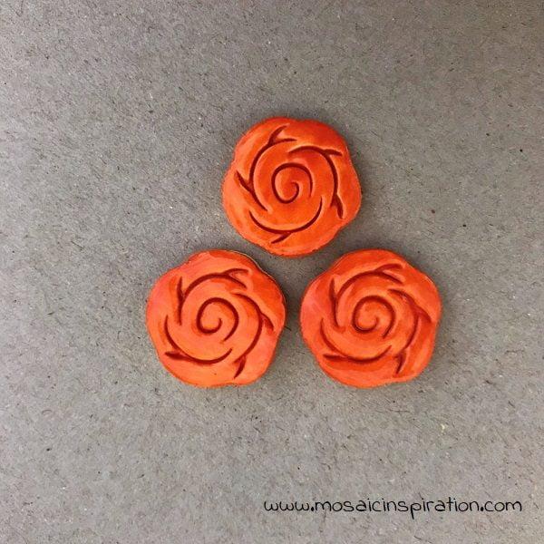 MOSAIC INSPIRATION Ceramic Roses Ceramic Flowers Mosaic Tiles Mosaic Inserts www.mosaicinspiration.com