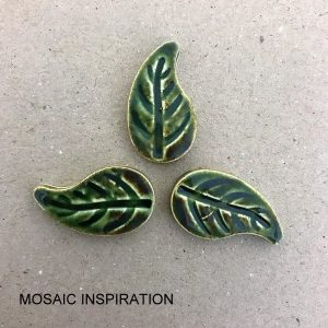 Ceramic Leaves Ceramic Mosaic Tile Mosaic Inserts Mosaic Leaves www.mosaicinspiration.com