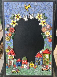 MOSAIC INSPIRATION Mosaic Inserts - Judy's Blackboard2 Ceramic Flowers Car House Leaves Bird Ladybird Plane Butterfly - www.mosaicinspiration.com