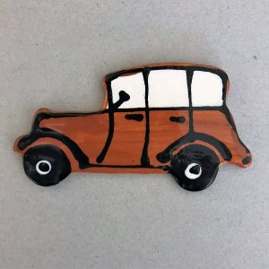 Ceramic Car Classic Car Vintage Car Ceramic Mosaic Inserts Mosaic Tile www.mosaicinspiration.com