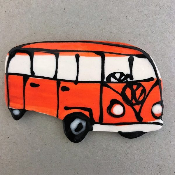 Ceramic VW Kombi Ceramic Car Ceramic Mosaic Inserts Mosaic Tile www.mosaicinspiration.com