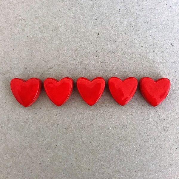 Ceramic Hearts Ceramic Hearts Ceramic Mosaic Tiles Mosaic Inserts www.mosaicinspiration.comMosaic Tiles Mosaic Inserts www.mosaicinspiration.com