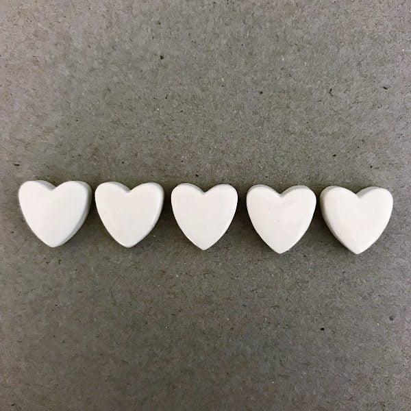 Ceramic Hearts Ceramic Mosaic Tiles Mosaic Inserts www.mosaicinspiration.com