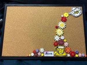 MOSAIC INSPIRATION - Mosaic Inserts - Judy's Noticeboard Teapot Cup Flowers Ladybird Circle Heart - www.mosaicinspiration.com