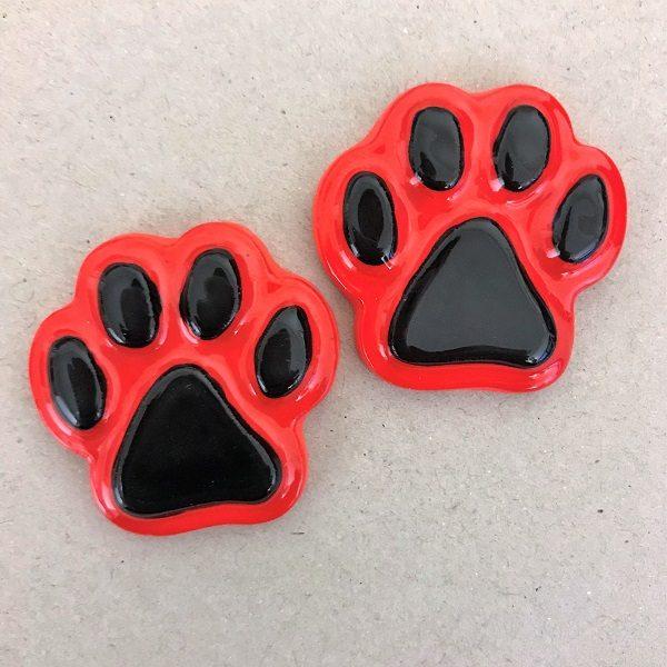 Ceramic Paws Cat Paws Dog Paws Ceramic Mosaic Tiles Mosaic Insert www.mosaicinspiration.com
