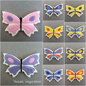 MOSAIC INSPIRATION Ceramic Butterfly Mosaic Tile Mosaic Inserts www.mosaicinspiration.com