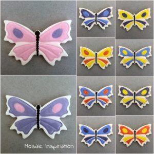 MOSAIC INSPIRATION Ceramic Butterfly Mosaic Tile Mosaic Inserts www.mosaicinspiration.com