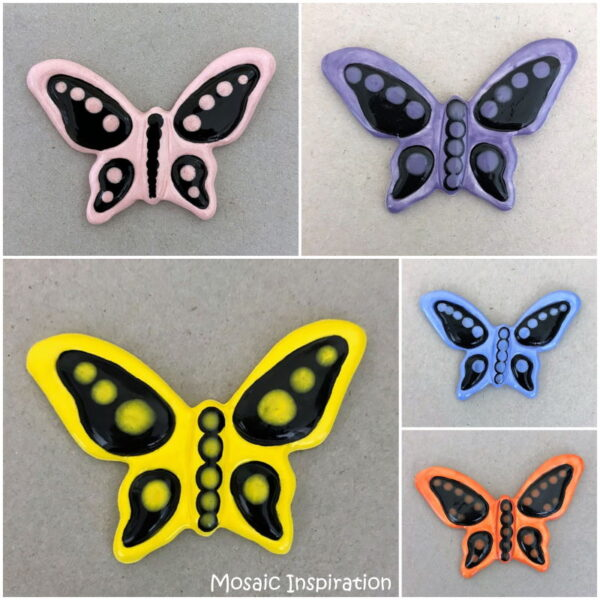 MOSAIC INSPIRATION Ceramic Butterfly 50x70mm Mosaic Tile Mosaic Inserts www.mosaicinspiration.com