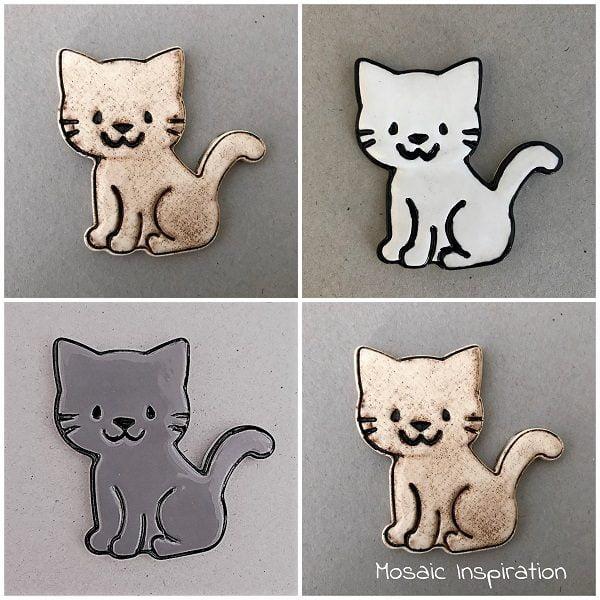 Ceramic Cat Ceramic Mosaic Tiles www.mosaicinspiration.com