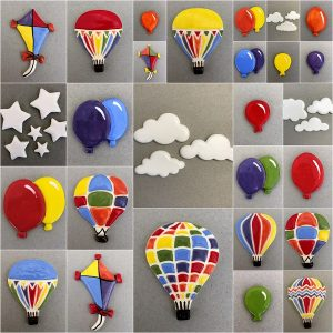 Clouds, Stars, Balloons, Kites, Hot Air Balloons