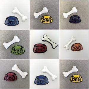 MOSAIC INSPIRATION Ceramic Dog Bowl Ceramic Bone Ceramic Mosaic Tile Mosaic Inserts www.mosaicinspiration.com