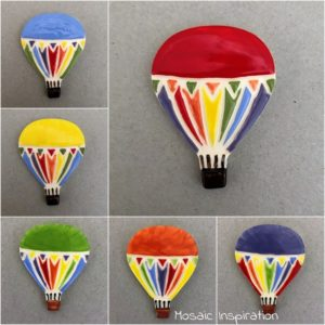 MOSAIC INSPIRATION Ceramic Mosaic Inserts Ceramic Hot Air Balloon www.mosaicinspiration.com