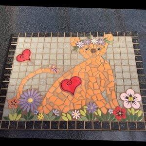 MOSAIC INSPIRATION - Julie's Ginger Cat Mosaic - www.mosaicinspiration.com