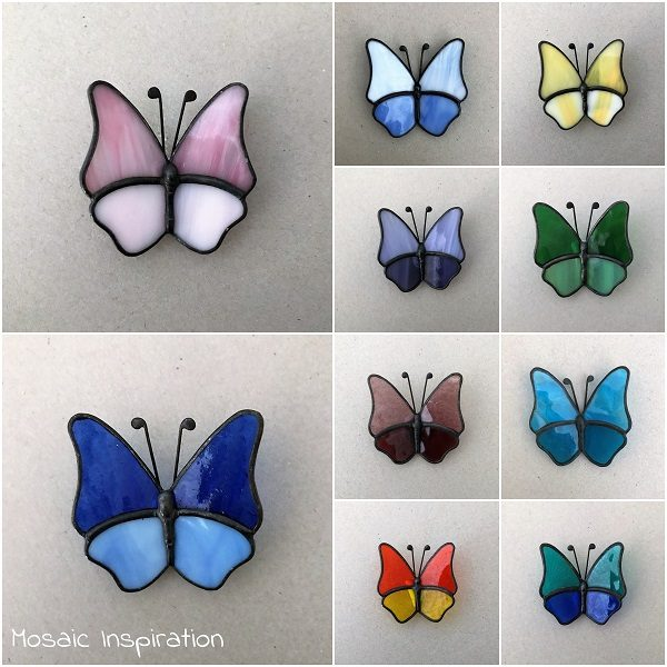 MOSAIC INSPIRATION Stained Glass Butterfly Mosaic Inserts www.mosaicinspiration.com