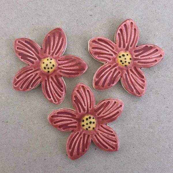 MOSAIC INSPIRATION Mosaic Inserts Ceramic Flowers Mosaic Tiles www.mosaicinspiration.com