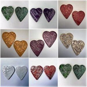 MOSAIC INSPIRATION Ceramic Hearts Mosaic Inserts Mosaic Tile www.mosaicinspiration.com