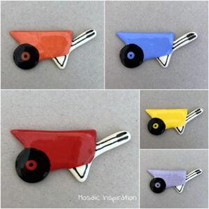 MOSAIC INSPIRATION Ceramic Mosaic Inserts Ceramic Wheelbarrow Mosaic Tiles www.mosaicinspiration.com