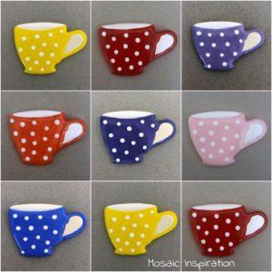 MOSAIC INSPIRATION Ceramic Cup Ceramic Mug Mosaic Inserts Ceramic Mosaic Tile www.mosaicinspiration.com