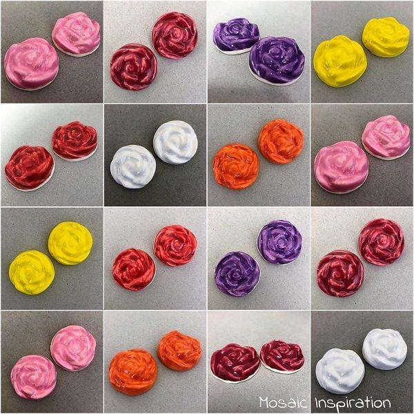 MOSAIC INSPIRATION Ceramic Roses Ceramic Flowers Mosaic Tile Mosaic Insert www.mosaicinspiration.com
