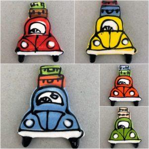 MOSAIC INSPIRATION Ceramic VW Beetle Ceramic Car Ceramic Mosaic Inserts Mosaic Tile www.mosaicinspiration.com