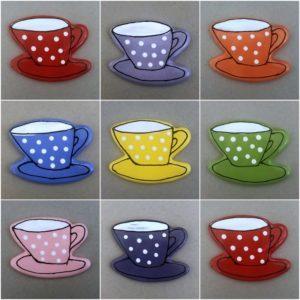 MOSAIC INSPIRATION Ceramic Cup and Saucer Mosaic Inserts Ceramic Mosaic Tile www.mosaicinspiration.com